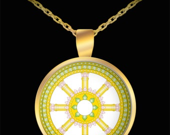 Lao Buddha Wheel Necklace