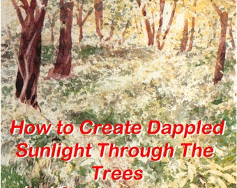 Watercolour step-by-step project to paint dappled sunlight through the trees.