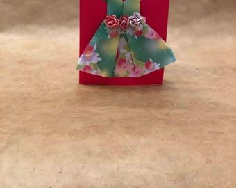 Origami Dress Birthday Card