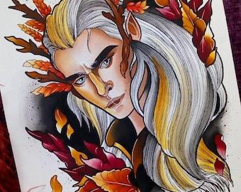 Thranduil the Hobbit - NeoTraditional Original painting