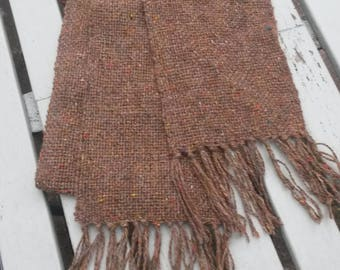 Hand woven scarf. Warm and cosy 100% pure  Donegal Tweed wool