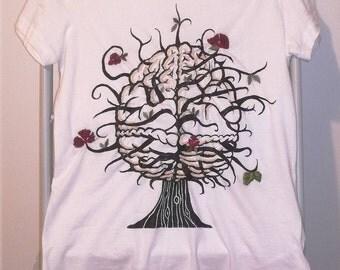 Flowery Brain T-Shirt