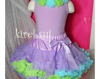 CLEARANCE BOUTIQUE Lavender Blue Lime Under The Sea Pettiskirt Birthday Tutu Size1-2y