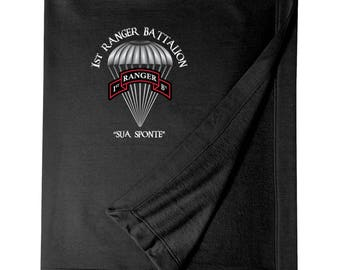 1/75th Ranger Battalion Embroidered Blanket-3821