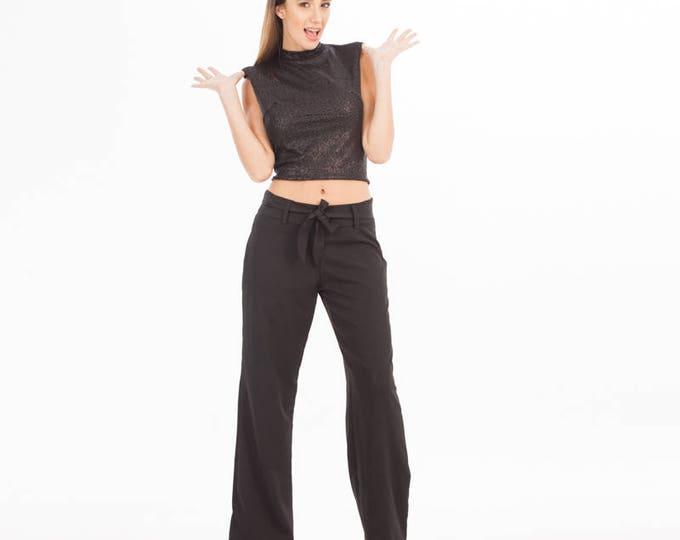 Black Sequin Top - Top - Black Sequin - Sequin Top - Sequin Dress - Sequin Clothing - Women Top - Party Top - Crop Top