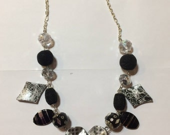 Black/Silver Necklace