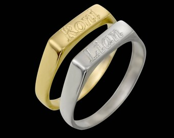 Gold Name Ring - Personalized Ring - Personalized Name Ring - Custom Ring - Gold Filled Name Ring - Personalized Jewelry - Personalized Gift