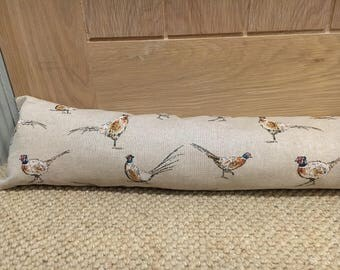 Pheasant bespoke draught excluder British