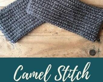 Camel Stitch Ear Warmer Crochet Pattern
