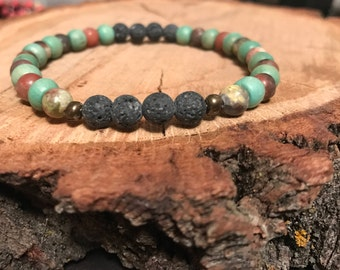 Lava rock diffuser bracelet