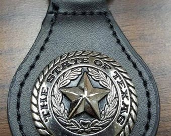 State of Texas Seal Leather key chain SKU 1