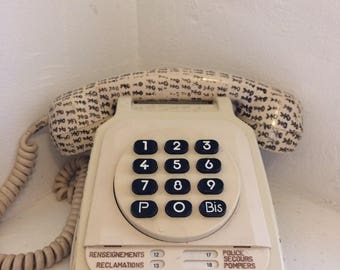 Sprayed - unique Vintage telephone