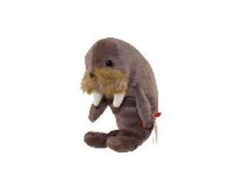 Ty Beanie Babies Jolly the Walrus 1996 generation 4 version 5 tush tag