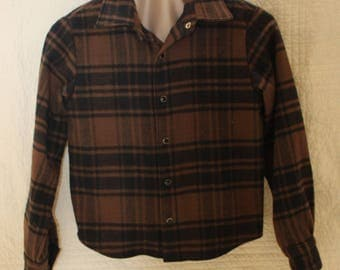 Boys Bushed Cotton Flannel Shirt