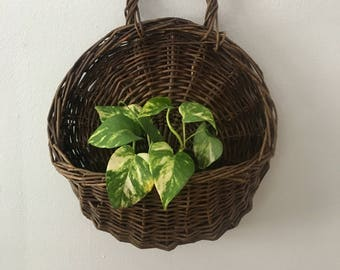 vintage wall hanging basket- large