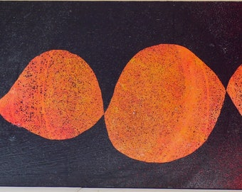 "Sunset Flight 8""x24"" acrylic on board w/ varnish, wood backing, ready to hang"