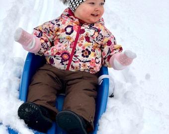 Toddler Pom-Pom Beanie - Houndstooth