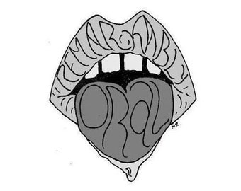 Remarkably Oral - Grayscale Art Sticker