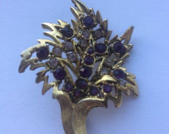 Exquisite Vintage Brooch Pin Flower