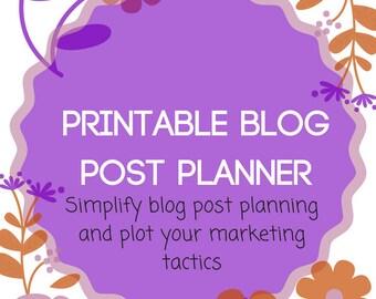 Blog Post Planner Printables