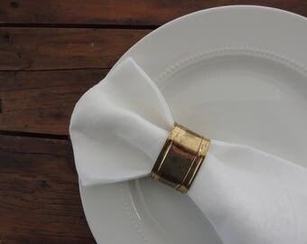 Set of Four Vintage Brass Napkin Rings // Brass Napkin Ring Holders