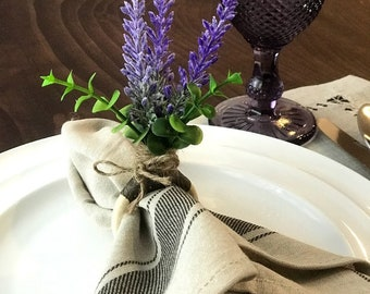 Lavender Flower Napkin Ring