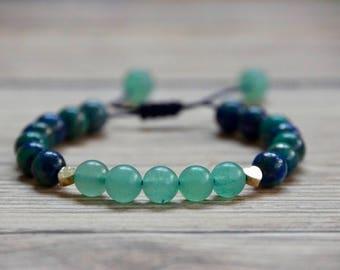 Semi-Precious Lapis lazuli bracelet