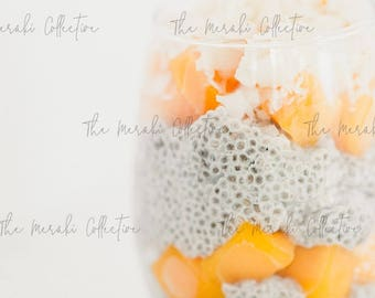 Mango Chia Pudding Stock Photo/ Images for health, wellness & fitness Bloggers, Coaches and Entrepreneurs