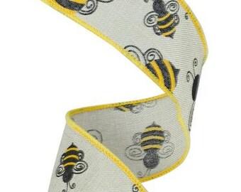 Bumble Bee print ribbon