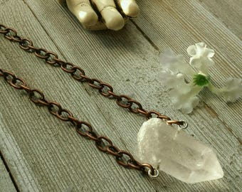 Chunky Quartz on Chain