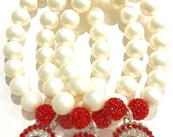Pearl & Rhinestone DST Bracelet
