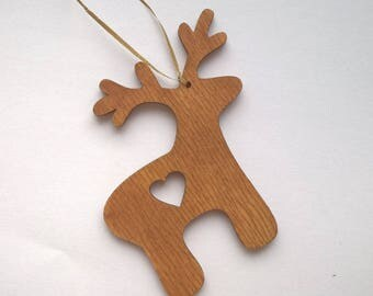 Wooden Christmas Ornament Handmade Decoration