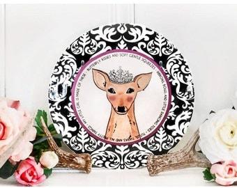 Baby Girl Ceramic Gift Plate