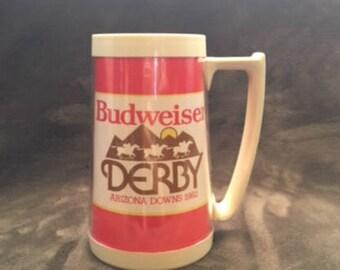 Rare 1982 Budweiser Derby Eagle  Arizona Downs Thermo Mug