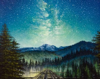Wonder of Light: Original Acrylic Painting PRINT on 16 x 12 Gallery Canvas