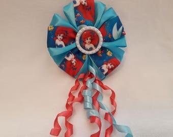 Disney Princess Curly Tasselled Kanzashi Handmade Hair Accessory Clip