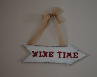 Wine Time Wood Arrow Sign