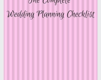The Complete Wedding Planning Checklist - Instant Download