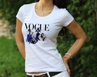 Disney Villian Shirt Disney Princess T-Shirt Vogue shirt Womens shirt Disney Princess tshirt Vogue t shirt Disney shirt gift for Women