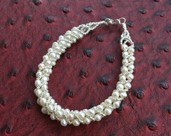 Pearl Bracelet with sterling silver