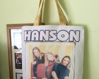 Upcycled T-shirt Bag: Vintage Hanson Shirt