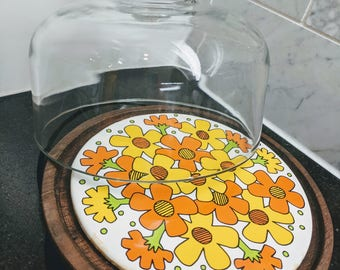Vintage Goodwood Mod Floral Cheese Board