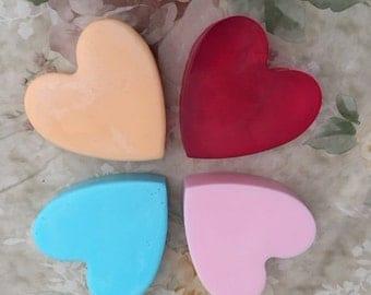 Homemade Heart Soap