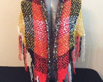 Red Queen Boho Shawl Chal