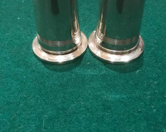 Set of silver salt and pepper shakers