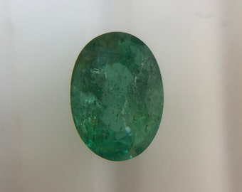 2.13Cts Natural Zambian Emerald SI AAA Grade 9X8MM Oval Cut Faceted Wholesale Lot Loose Gemstone