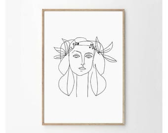 picasso line drawing etsy