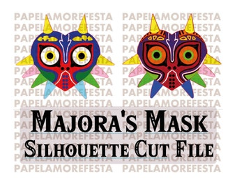 Zelda Theme Party - Majora's Mask flat design Cut file! Zelda majora's Mask Theme Party.