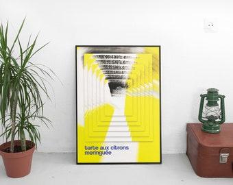 """Poster A3 - """"Lemon meringue pie"""""""