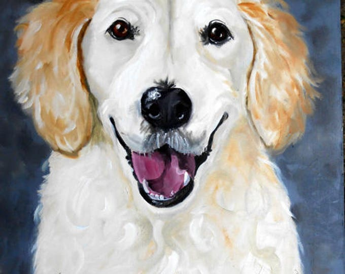 Custom Pet Portrait, Dog Portrait Christmas Gift, :abradpr Retriever Oil painting from Photo, Portrait Custom Dog Lover Gift Idea,